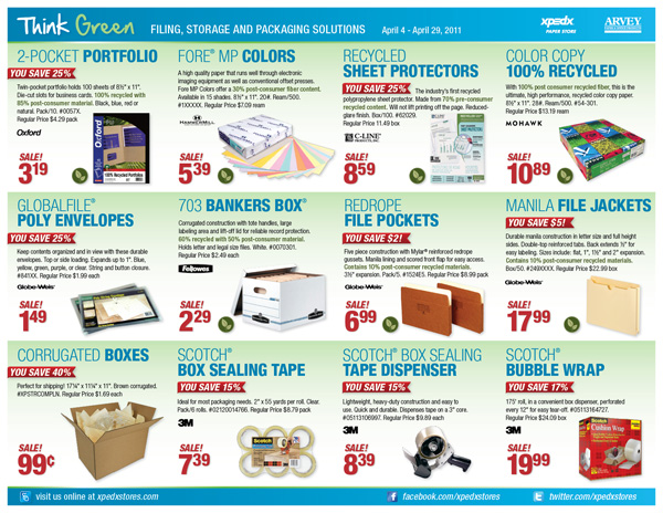 XPEDX STORES Campaign: Monthly Seasonal Promotions Targets: B2B & B2C Integration: Digital, E-mail & In-Store Signage