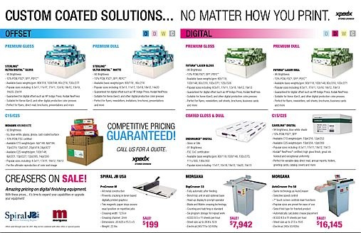XPEDX B2B Campaign: No matter how you print... Targets: B2B Integration: E-mail & In-Store Signage