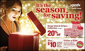 XPEDX STORES Campaign: Holiday Promotions Targets: B2C Retail Integration: Digital, E-mail & In-Store Signage